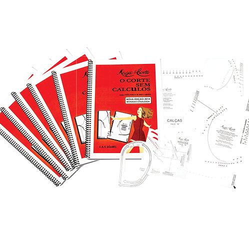 Kit 6 Livros 1o Volume com Gabaritos Plásticos com 20% de desconto