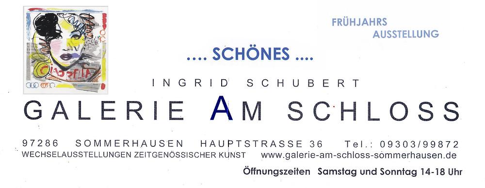 Die Galerie am Schloß präsentiert u.a. UL art in der Frühjahrsausstellung 2019