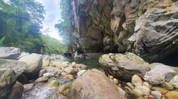 Pêche Toc à moyenne distance sur rivière Vicdessos