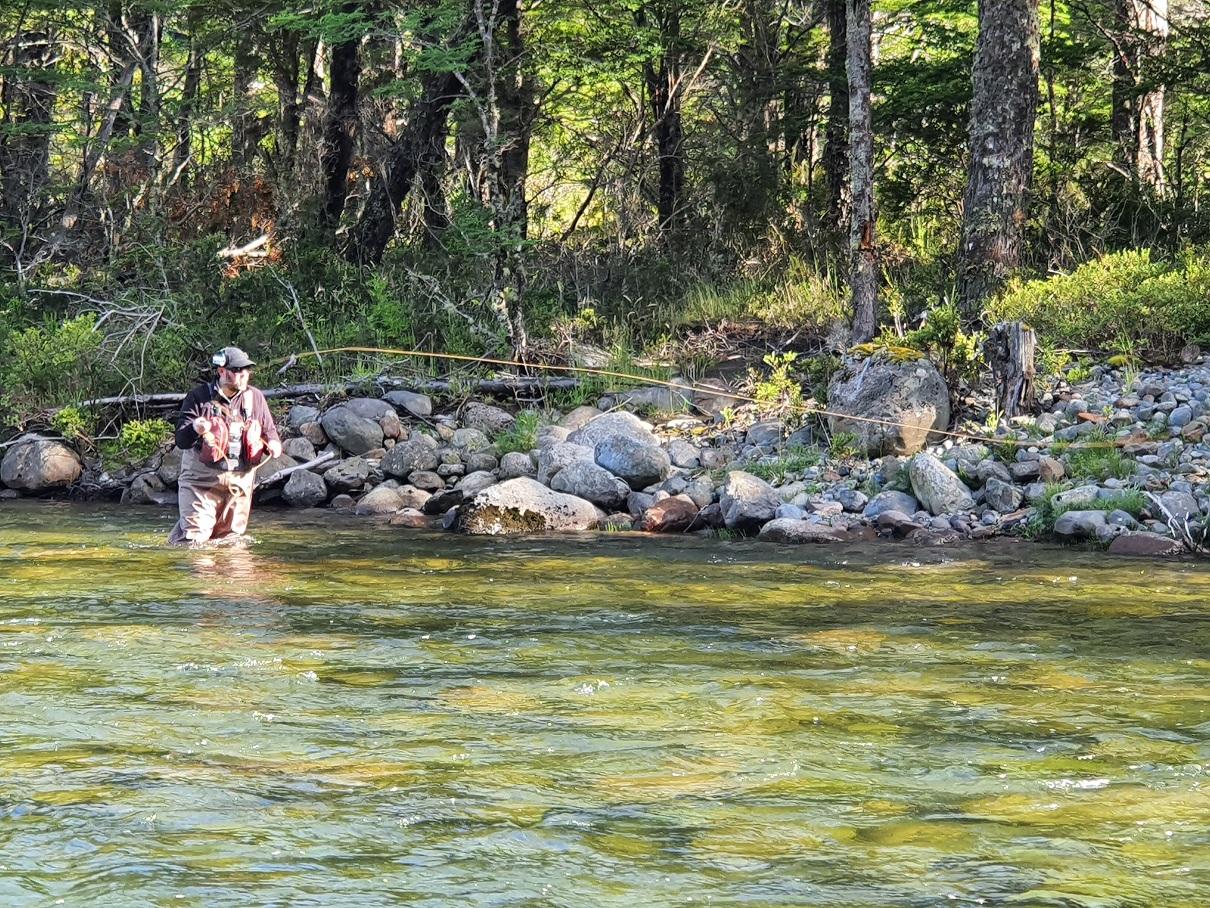 Pêche au Fouet en sèche