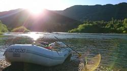 Descente de rivière en bateau
