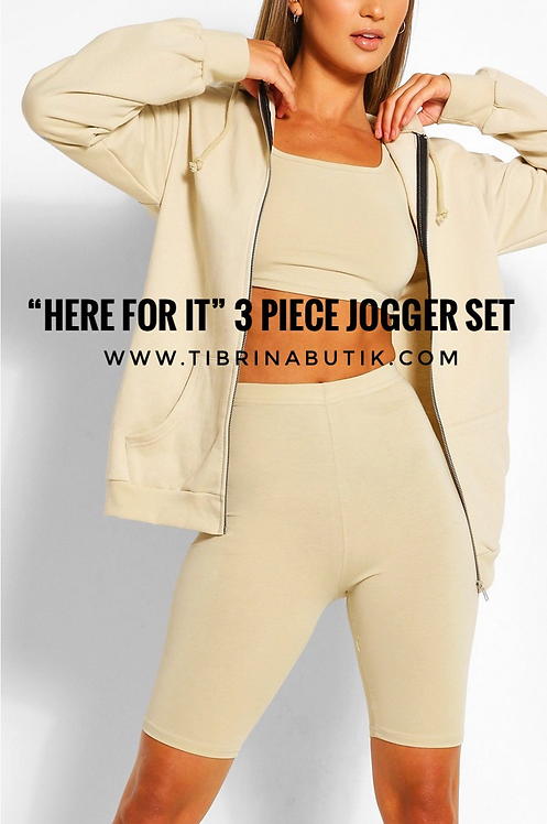 """Here For It"" 3 Piece Jogger Set"