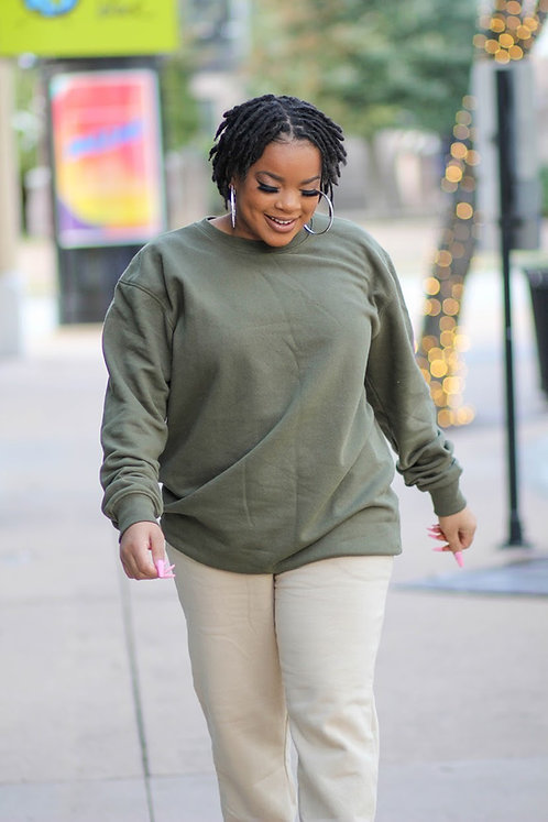 Chic In The City PullOver OLIVE