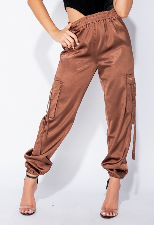 Not The Average Chic Joggers BROWN