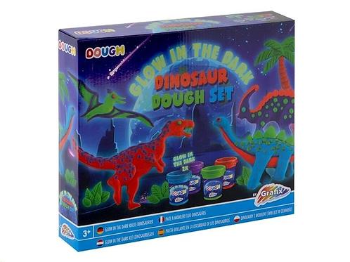 dough glow dinosaur set 30x25x5.5cm