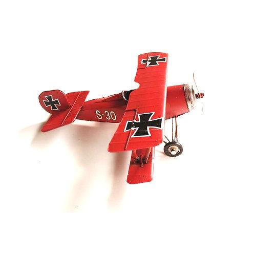 metaal vliegtuig 25x24cm