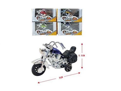 motorfiets in doosje 9.5x5x3.5cm