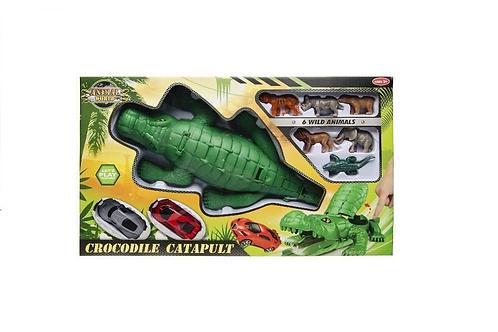 krokodil auto katupult in doos 42X24X8CM