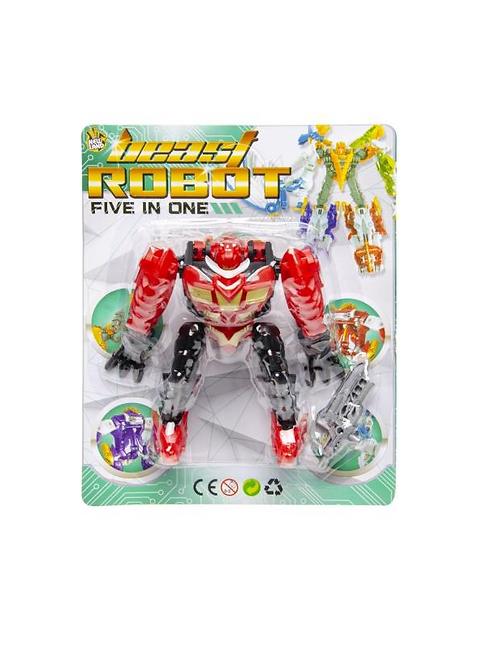 beestige robot op kaart 21X17X6CM