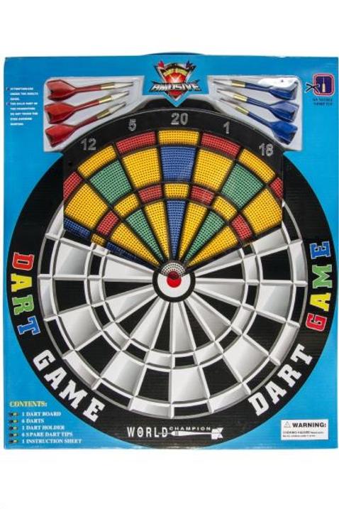 darts safety 43cm met 6 pijltjes