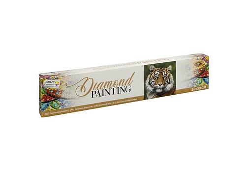 diamond painting 30x30cm tijger