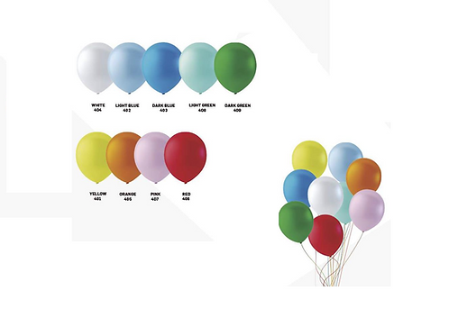 100 ballonnen pastel 30cm per kleur