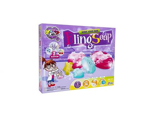 maak zelf je glitter zeep