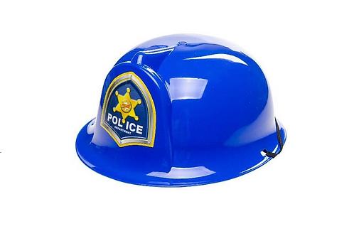 politie helm 21x19x10cm