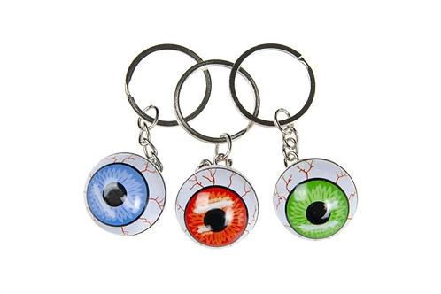 sleutelhanger oogbal metaal
