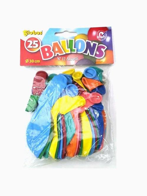 zakje met 25 ballons 30cm