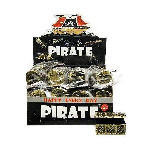 piraat schatkist 8.5 x 4.5 x 5cm