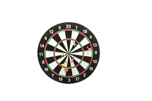 dartbord (dia 43cm) met 6 pijtjes