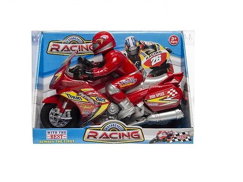 racemotor met racer in doos 27x19x9