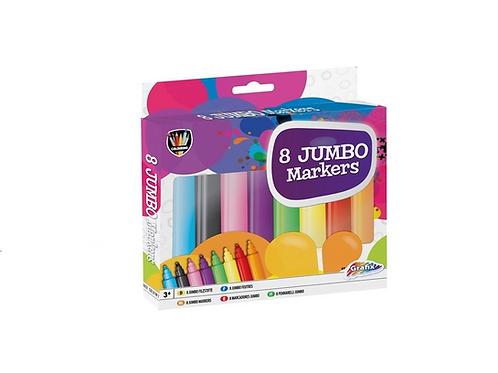 set van 8 jumbo markers in doos