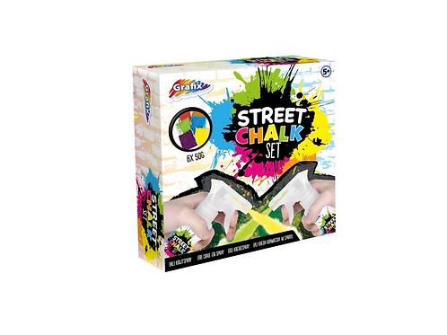 street chalk set in doos