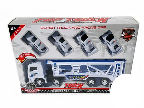 Super truck met race auto's