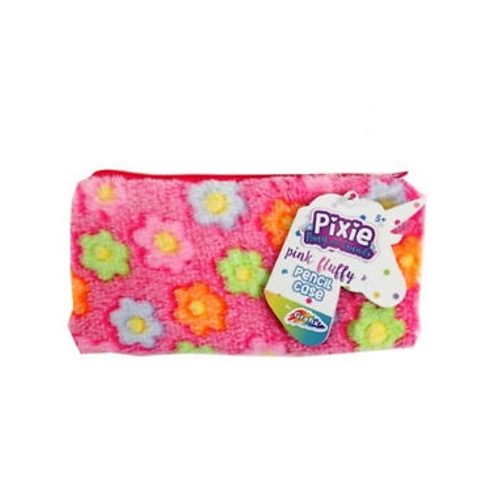 pixie pink fluffy pencil case