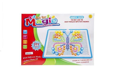mozaïk prikkertjesspel in doos 29X21X3.5CM