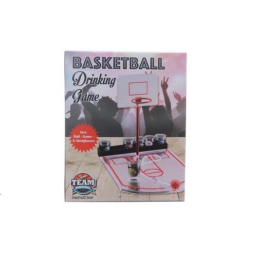 drankspelletje basketball in doos 30x25x6cm