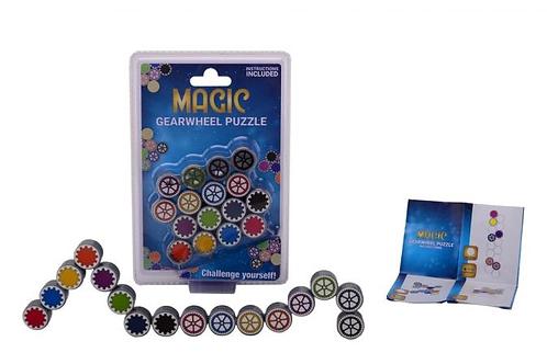 magische schakels denk spel op kaart