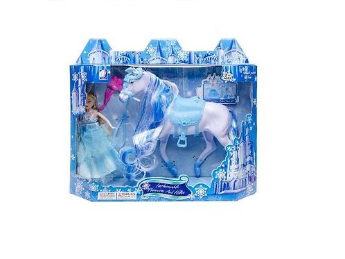 pop met paard in doos 30.5x26x27cm