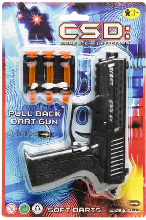 pistool zwart met 3 pijltjes