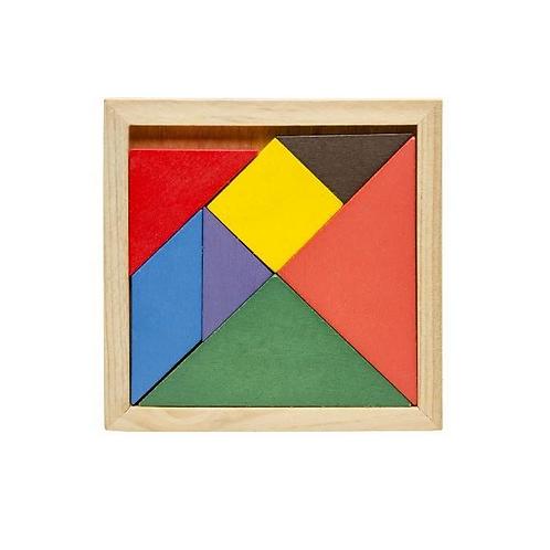 houten puzzel tangram 11.5x11.5cm