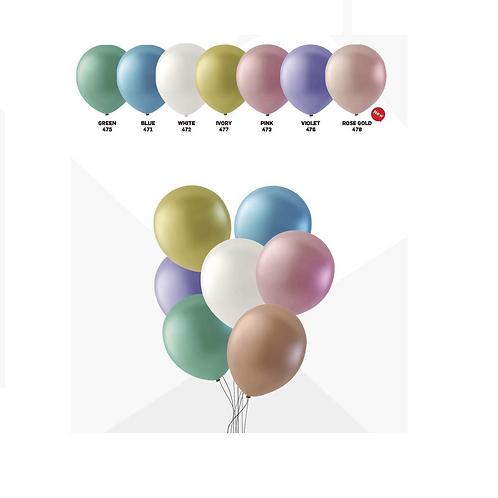 100 ballonnen parel 30cm per kleur