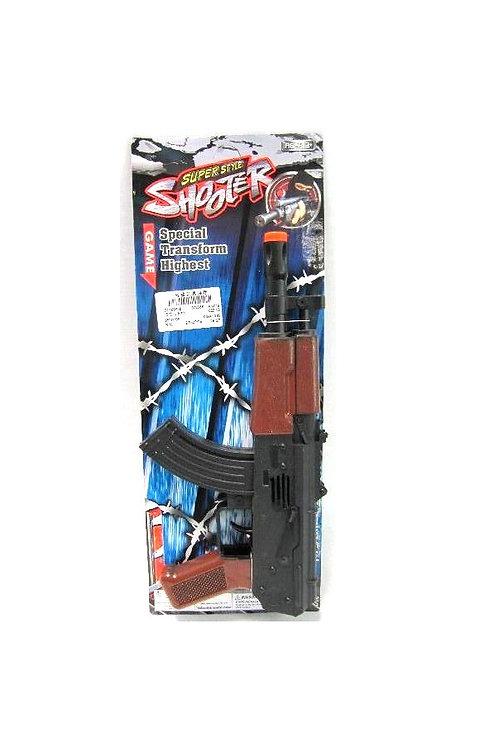geweer op kaart 14.5 x38cm