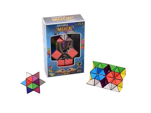 set van 2 vouwbare magische kubus
