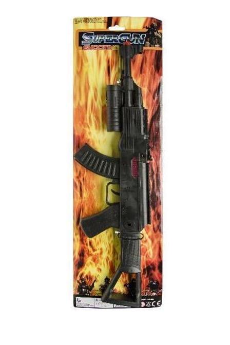 geweer op kaart 58x17cm