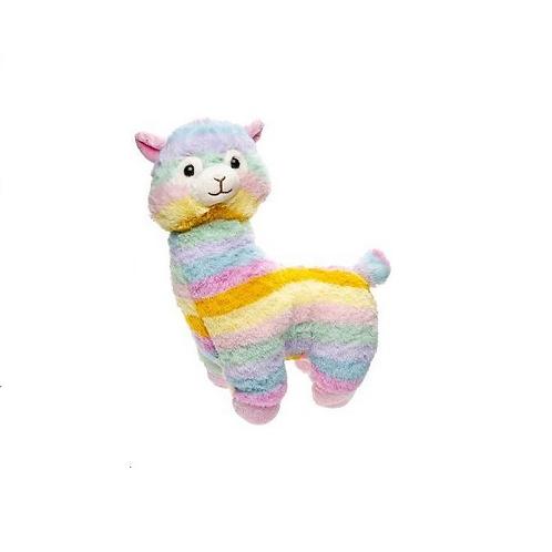 pluche alpaca 35cm regenboog