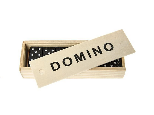 domino spel hout 15x5 x3cm