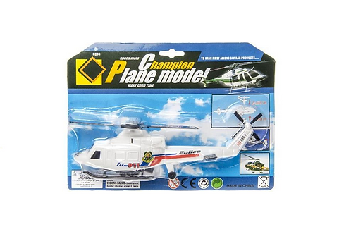 helicopter politie 26x19cm