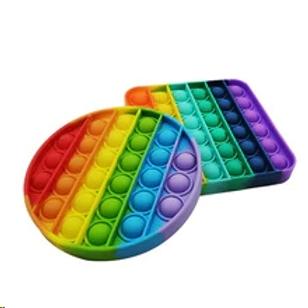 bubble pop-it fidget spel regenboog! 12.5cmx1cm