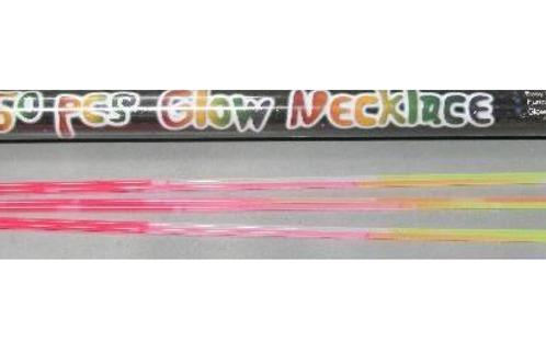 tube met 50 glowsticks van 58cm
