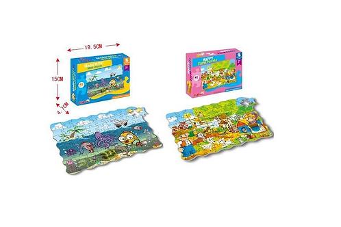 puzzel boerderij/oceaan doos19.5x15x4.5cm