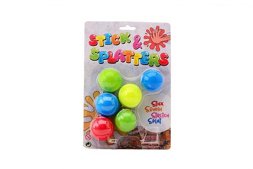 Sticky stretch ballen op kaart
