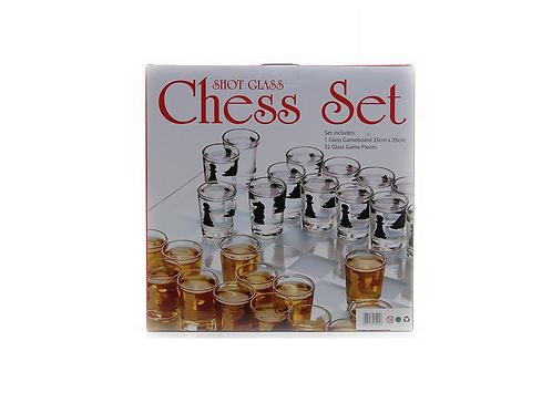 dranspel schaakspel shotjes in doos 38x38x7cm