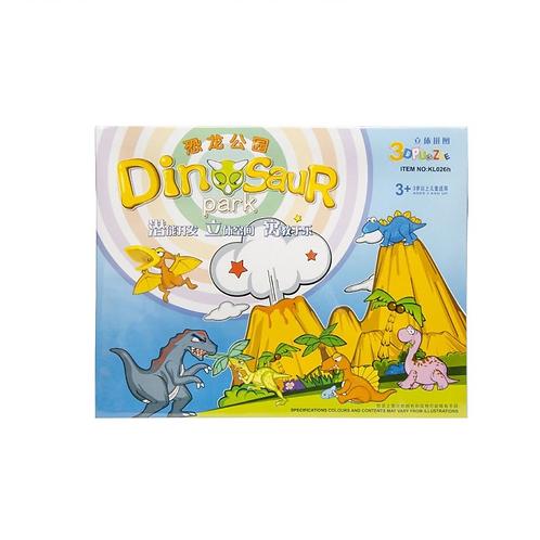3D puzzel dino's in doos BOX 30X24X3CM