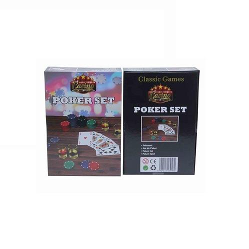 pokerset 120 chips in doos 27.5x19x6.5cm