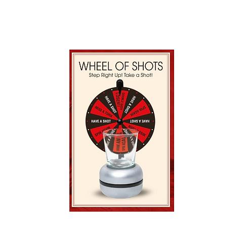 drankspelletje wheel of shots in doos 18.5x12x8cm