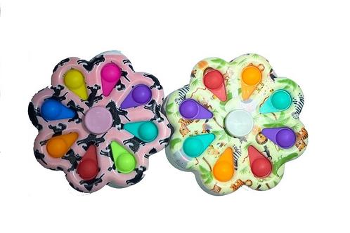 bubble pop it fidget spinner mixed colors