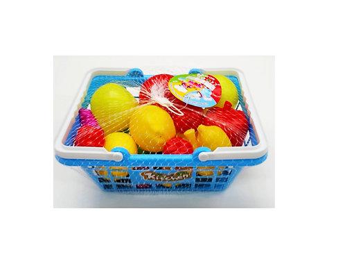 fruitmand met fruit in netje